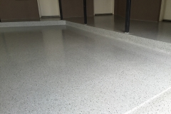 Epoxy Flake Flooring - Man Cave After