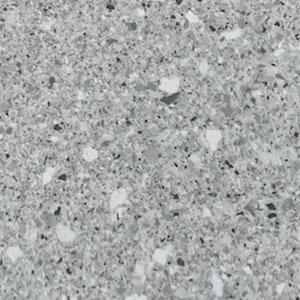 green stone flake flooring